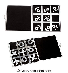 set tic-tac-toe symbol of man and woman of masculine and...