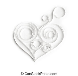 Quilling paper hearts. Background with hearts for...