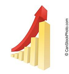 Bar Graph - Bar graph vector showing an upward trend....