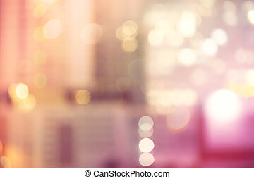 Blurred urban building background scene - Blurred pink and...