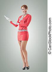 Asian flight attendant