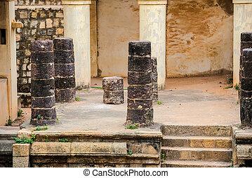 part of ruins Vijaynagara Fort Tanjore ancient monument...