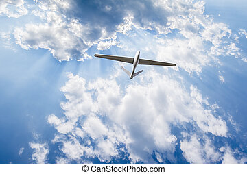 Unmanned aerial vehicle in the sky - Unmanned aerial vehicle...