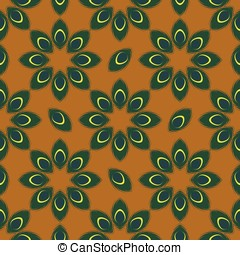 stylized peacock feather seamless pattern vector