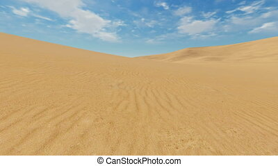 Motion to horizon through desert - Simple desert scenery...