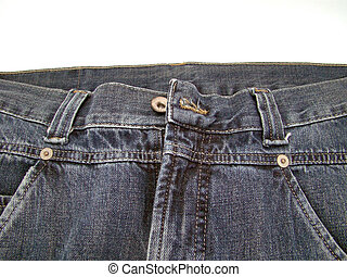 detail of a jeans trouser pocket