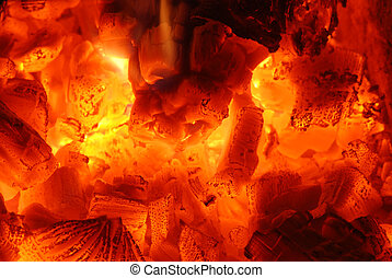 Fire - Close up of fire and ember