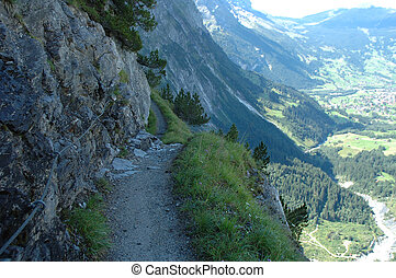 Trail nearby Grindelwald in Switzerland - Trail from...