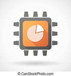 CPU icon with a pie chart