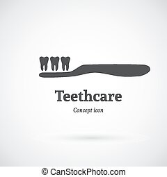 Tooth care concept icon