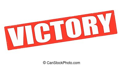 Victory - Stamp with word victory inside, vector...