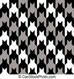 Diagonal Houndstooth - A classic houndstooth pattern in...