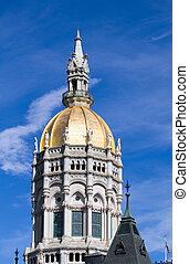 Hartford Connecticut Capitol Dome - Connecticut state...