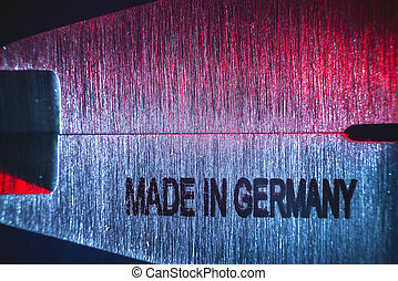 Made in Germany - Conceptual image, details of a modern tool...