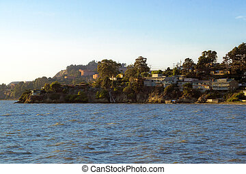 Point Richmond, California - a view of waterfront homes in...