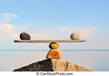 Harmonical - Balancing of pebbles on the top of stone