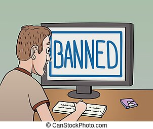 Banned - This is the illustration about banning in the...