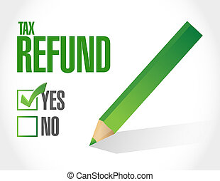 tax refund approved illustration design over a white...