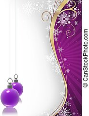 Violet christmas - Winter floral and violet christmas balls...