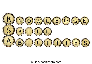 Knowledge, skills, and abilities (KSA) is a concise essay...