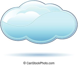Cloud logo - Clouds icon vector design