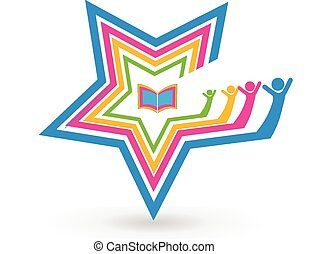 Star teamwork students book logo - Star teamwork students...