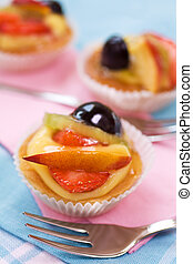 Pastry with fruit