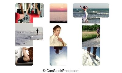 fit collage on white