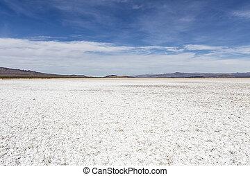 Mojave Desert Salt Flat Dry lake - Salt flat dry lake near...