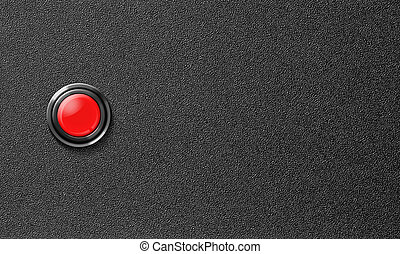 start red push button on black plastic background - start...