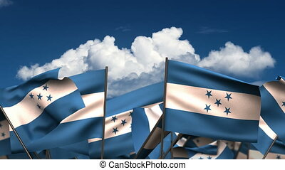 Waving Honduran Flags - Waving El Honduran Flags seamless...