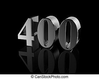 number 400 - black metallic number 400 on black background,...