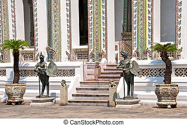 the temple of the emerald buddha grand palace - mythic bird...