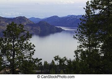 Okanagan Lake Near Peachland - A view of Okanagan Lake Near...