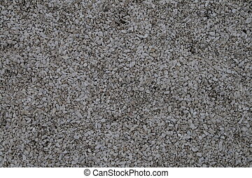 Light grey fine-grained gravel for surface texturing