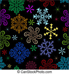 Dark  winter seamless pattern