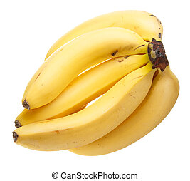 Bunch of bananas - A bunch of bananas isolated on white...