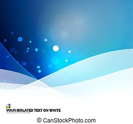 Abstract background - Color blue and light, waves and lines...