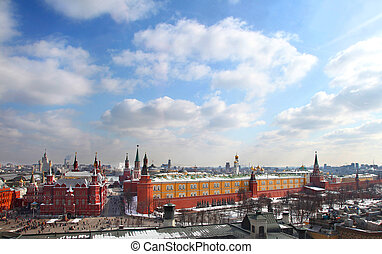 Moscow Kremlin on sunny day, Russia