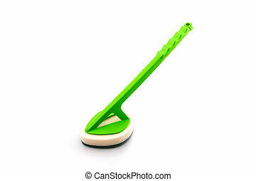 Clean scrubber. - Clean scrubber on white background,...