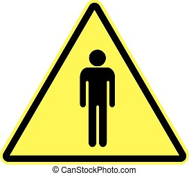Man attention sign