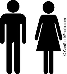 Vector Man and Woman sign