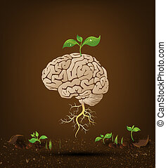 Brain tree illustration - Brain tree illustration, tree of...