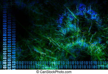Blue World Wide Web Abstract Background Art