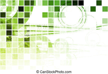Green Techno Organic Background as Digital Art