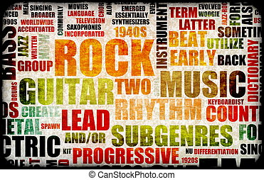 Rock Concert Event Poster Board as Background