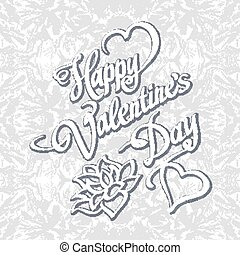 HAPPY VALENTINeS DAY hand lettering handmade calligraphy vector