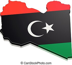 Map Libya - detailed illustration of a map of Libya with...