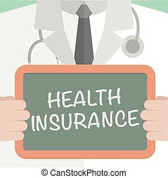 Health Insurance - minimalistic illustration of a doctor...