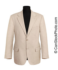 Off White Corporate Coat on Black Mannequin - Close up Off...